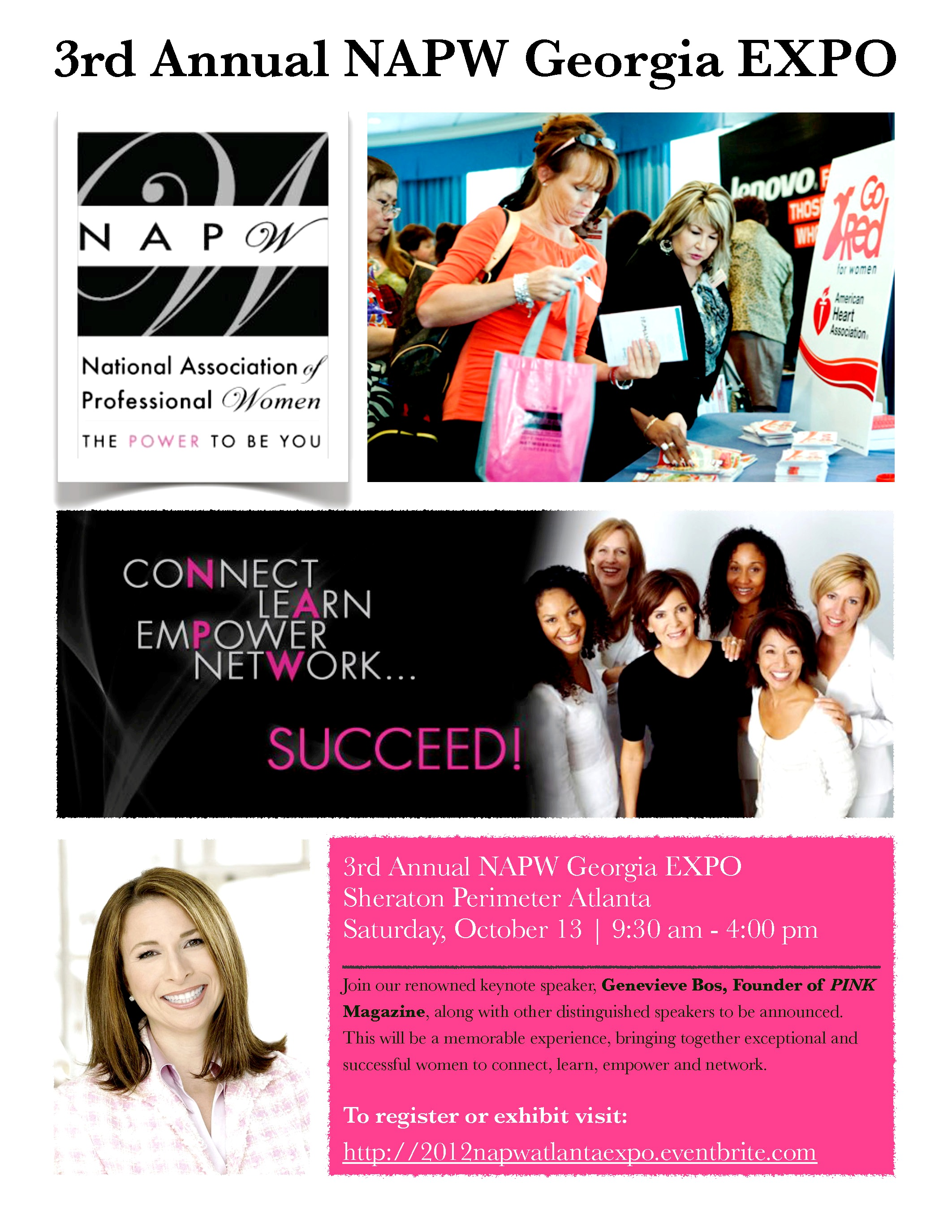 2012 NAPW Georgia EXPO Flyer